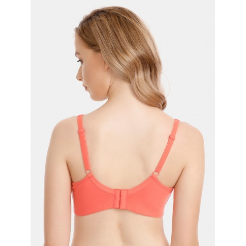 Zivame Peach-Coloured Solid Non-Wired Lightly Padded T-shirt Bra ZI1791FASHCORNG