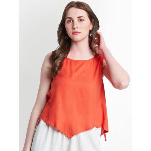 AKKRITI BY PANTALOONS Women Red Asymmetrical Top