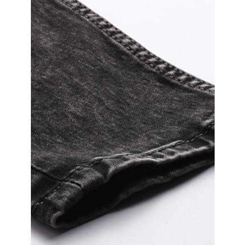 Ecko Unltd Grey Cotton Denim Slim Fit Casual Jeans