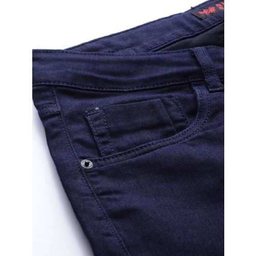 Flying Machine Men Blue Skinny Fit Low-Rise Clean Look Stretchable Jeans