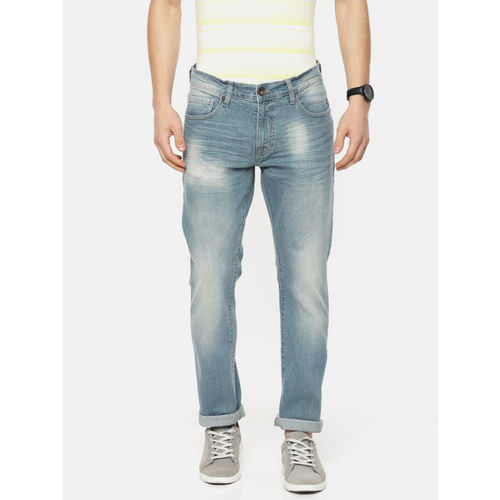 Pepe Jeans Men Rubin Vapour Blue Slim Fit Low-Rise Clean Look Stretchable Jeans