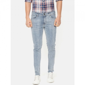 Pepe Jeans Men Blue Jason Skinny Fit Low-Rise Low Distress Stretchable Jeans