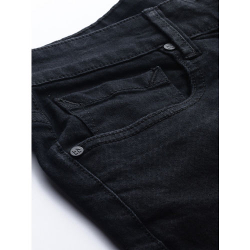 HERE&NOW Men Black Skinny Fit Mid-Rise Clean Look Stretchable Jeans