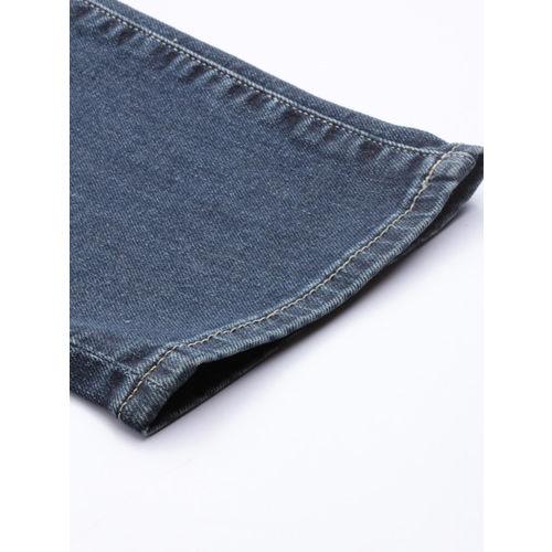 U.S. Polo Assn. Denim Co. Men Blue Brandon Slim Tapered Fit Mid-Rise Mildly Distress Jeans
