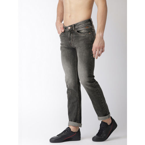 Flying Machine Men Grey Michael Slim Fit Mid-Rise Clean Look Stretchable Jeans