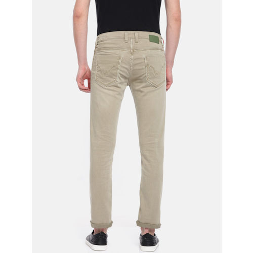 Lawman pg3 Men Green Slim Fit Low-Rise Clean Look Stretchable Jeans