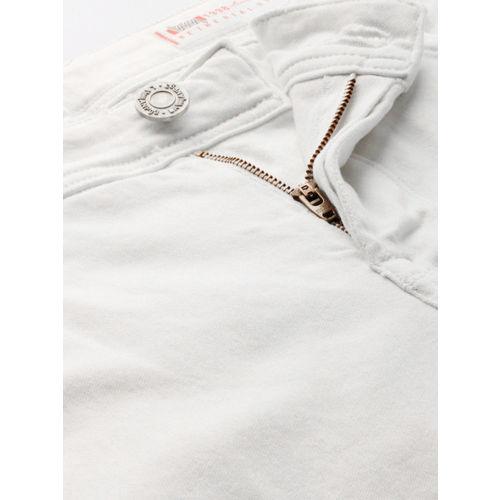 Lawman pg3 Men White Slim Fit Mid-Rise Clean Look Stretchable Jeans