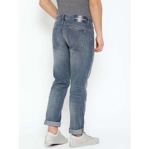 Calvin Klein Jeans Men Blue Body Slim Fit Mid-Rise Clean Look Stretchable Jeans