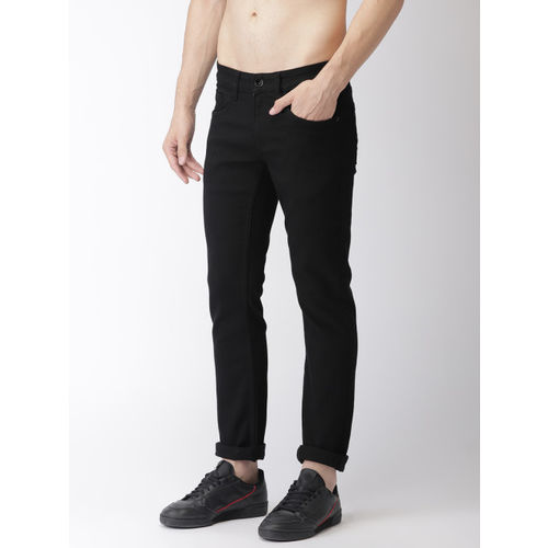 Flying Machine Men Black Skinny Fit Low-Rise Clean Look Stretchable Jeans