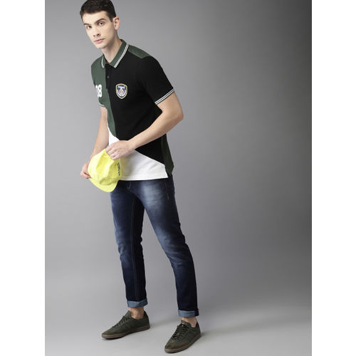 Moda Rapido Men Blue Slim Fit Mid-Rise Clean Look Stretchable Jeans