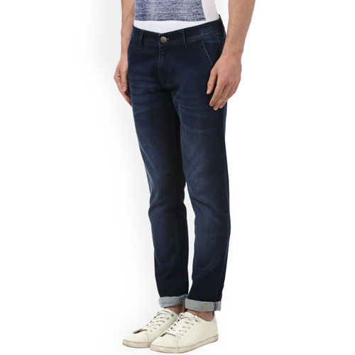 Park Avenue Men Blue Regular Fit Mid-Rise Clean Look Jeans
