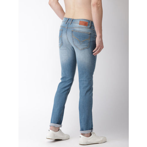 Flying Machine Men Blue Jackson Skinny Fit Low-Rise Clean Look Stretchable Jeans