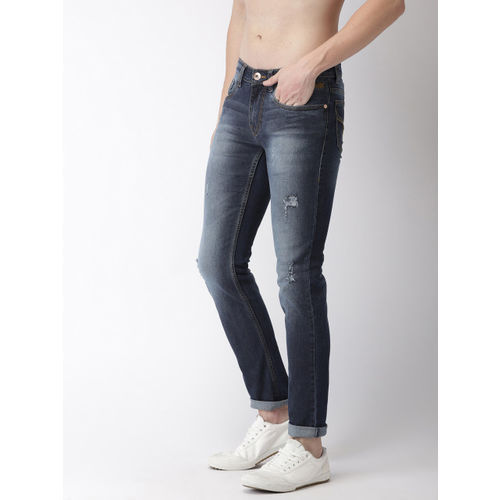 Flying Machine Men Blue Jackson Skinny Fit Low-Rise Mildly Distressed Stretchable Jeans