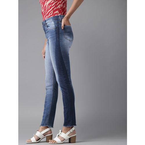 Moda Rapido Women Blue Skinny Fit High-Rise Clean Look Stretchable Jeans