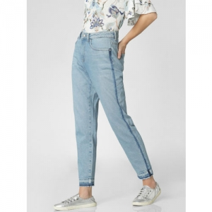 Vero Moda Women Blue Straight Fit Mid-Rise Clean Look Stretchable Jeans