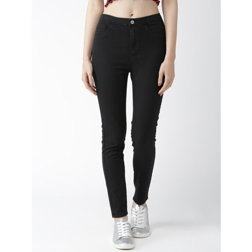 Flying Machine Women Black Regular Fit High-Rise Clean Look Stretchable Jeans