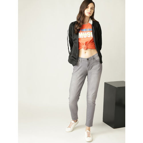 United Colors of Benetton Women Grey Skinny Fit Mid-Rise Clean Look Stretchable Jeans