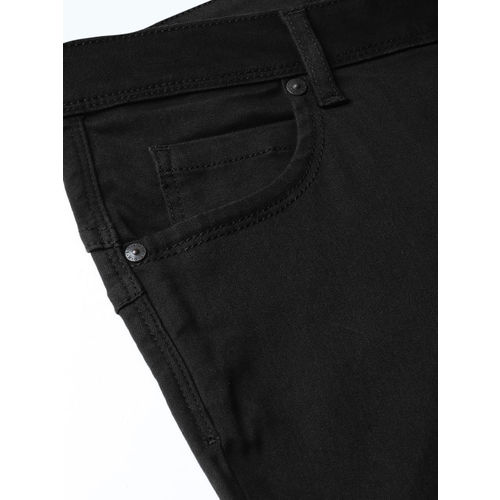 United Colors of Benetton Women Black Bootcut Mid-Rise Clean Look Stretchable Jeans