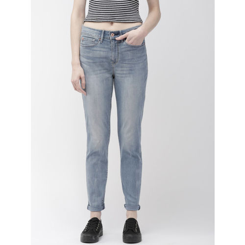 Denizen From Levis Women Navy Blue Skinny Fit High-Rise Clean Look Stretchable Jeans