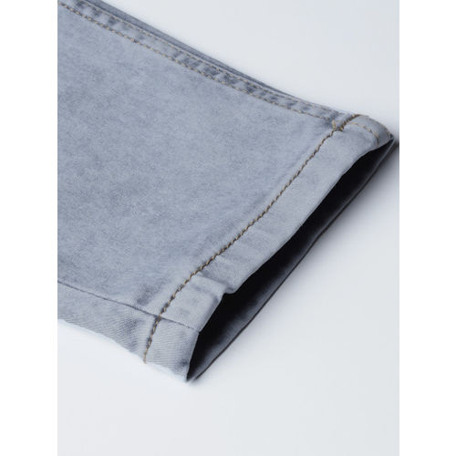 United Colors of Benetton Women Grey Mid-Rise Clean Look Stretchable Cropped Jeans