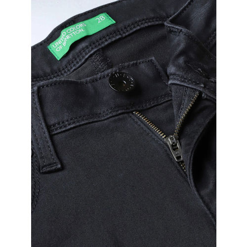 United Colors of Benetton Women Black Skinny Fit Mid-Rise Clean Look Stretchable Jeans