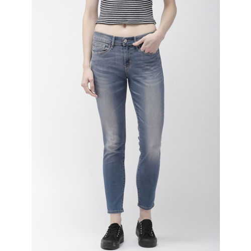 Denizen From Levis Women Navy Blue Modern Skinny Fit Mid-Rise Clean Look Stretchable Jeans