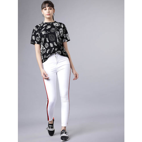 Tokyo Talkies Women White Super Skinny Fit Mid-Rise Clean Look Stretchable Jeans
