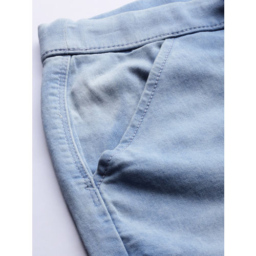 Denizen From Levis Women Blue Jogger High-Rise Clean Look Stretchable Cropped Jeans