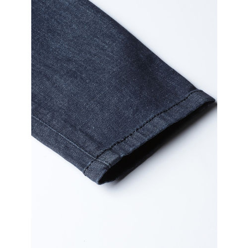 United Colors of Benetton Women Navy Blue Skinny Fit Mid-Rise Clean Look Stretchable Jeans