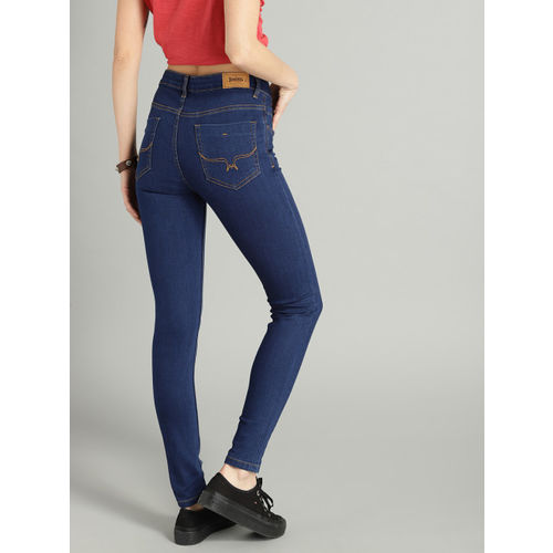 Roadster Women Blue Skinny Fit Mid-Rise Clean Look Ankle Length Stretchable Jeans