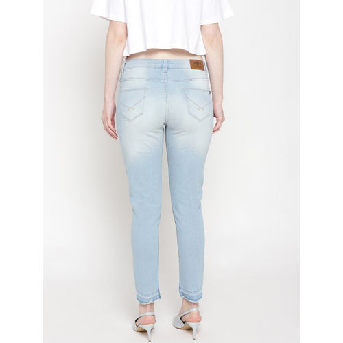 U.S. Polo Assn. Women Blue Skinny Fit Mid-Rise Clean Look Stretchable Jeans