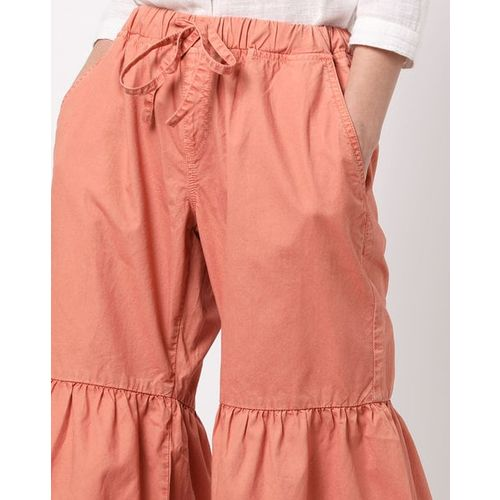 Freakins Panelled Flared Pants with Insert Pockets