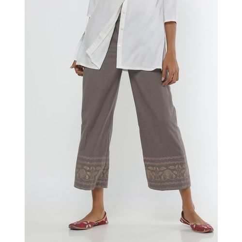 Project Eve IW Casual Mid-Rise Culottes with Printed Panels