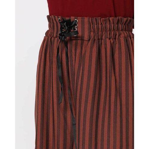 AJIO Striped Culottes with Elasticated Waist