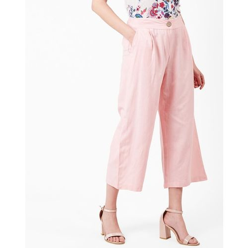 Oxolloxo Pleated Cropped Trousers