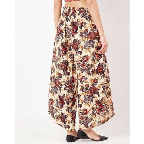 Oxolloxo Floral Print Flared Trousers