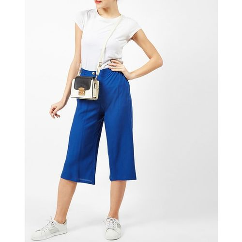Oxolloxo Mid-Rise Culottes with Mock Button