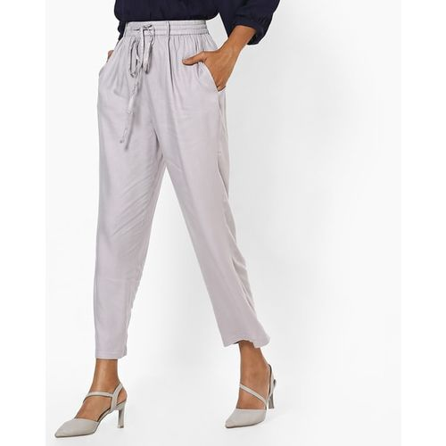 Oxolloxo Ankle-Length Pants with Slip Pockets