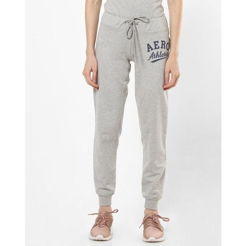 AERO JEANS WOMENS Typographic Print Joggers with Elasticated Waist