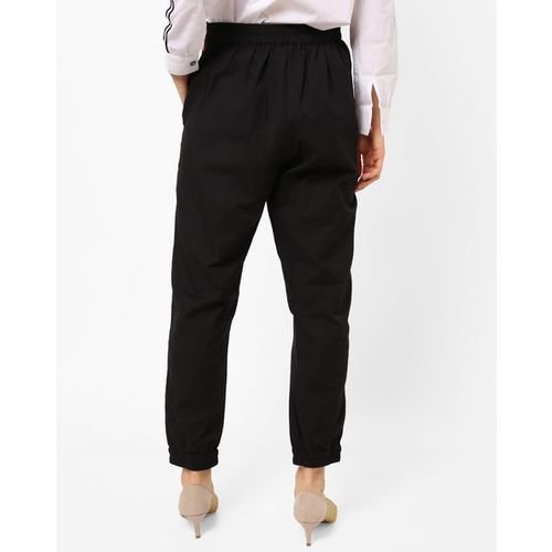 Rena Love Mid-Rise Trousers with Elasticated Hems