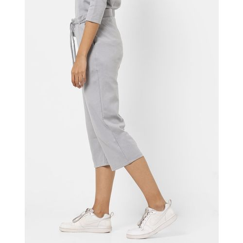 PROJECT EVE WESTERN WEAR Mid-Rise Cropped Culottes with Insert Pockets