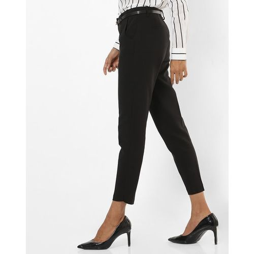 Vero Moda Mid-Rise Ankle-Length Trousers