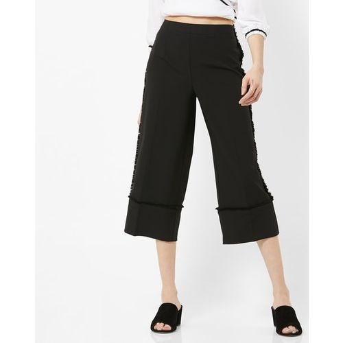 Vero Moda High-Rise Culottes with Fringes
