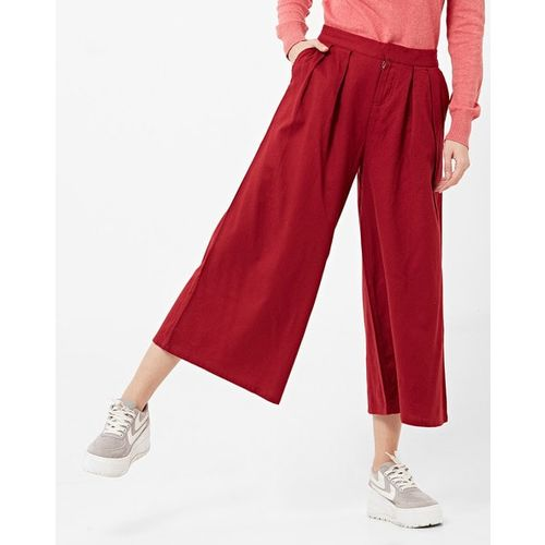 Project Eve WW Casual Pleated Cropped Palazzos