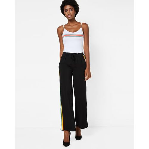 TALLY WEiJL Mid-Rise Pants with Side Striped Panels