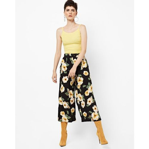 TALLY WEiJL Floral Print Culottes with Semi-Elasticated Waist