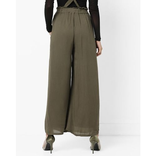 Vero Moda High-Waist Palazzos with Suspenders
