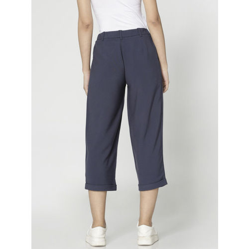 ONLY Women Blue Loose Fit Solid Culottes