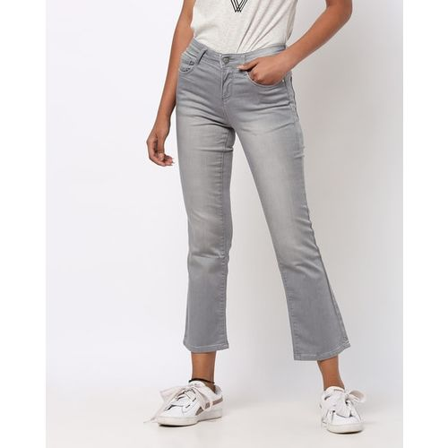 KRAUS Mid-Wash Flared Jeans