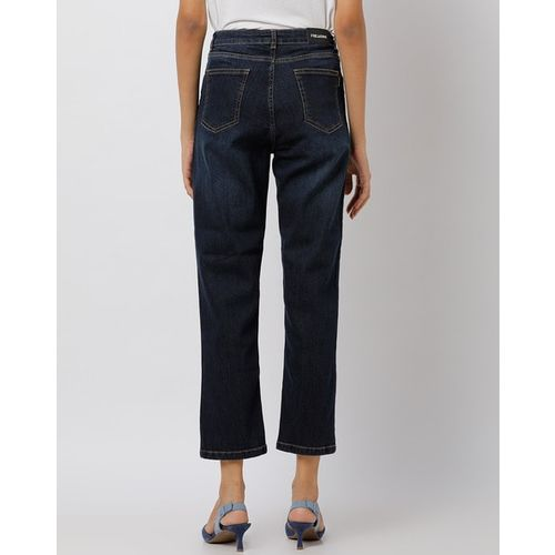 Freakins Cropped Straight Fit Jeans